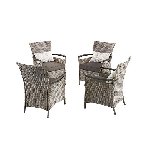 Franklin Estates Steel Patio Dining Chair (4-Pack), Table not included
