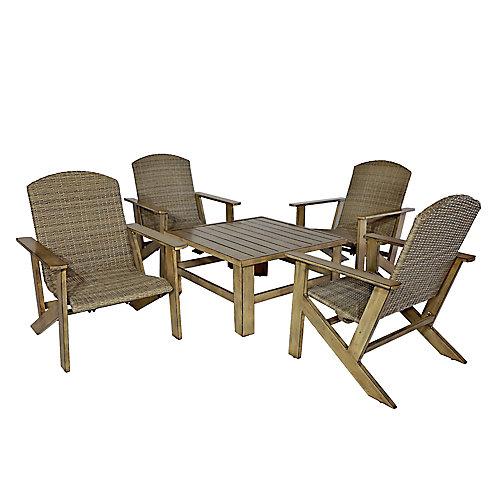 Salon de jardin avec chaises Muskoka Woodland Crossing, 5 pièces