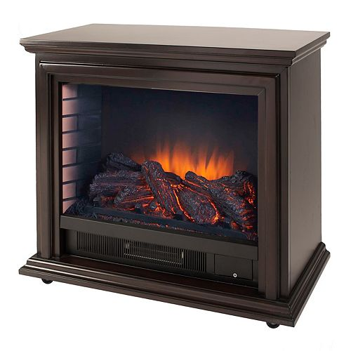 Sheridan 32-inch Freestanding Mobile Infrared Fireplace in Espresso