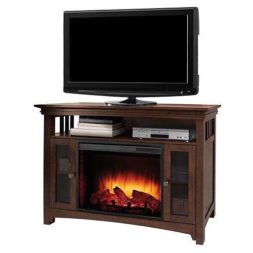Wyatt 48-inch Infrared Media Fireplace in Burnished Oak