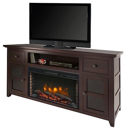 Winchester 56-inch Media Electric Fireplace in Dark Walnut