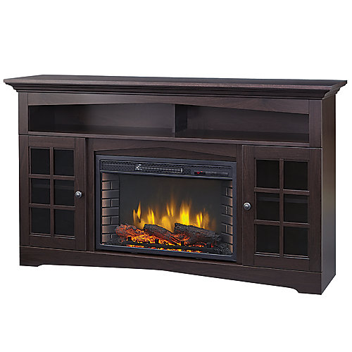 Huntley 59-inch Electric Fireplace and Media Stand in Espresso