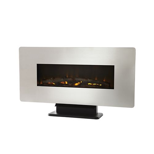 36-inch Wall Mount Electric Fireplace in Zinc