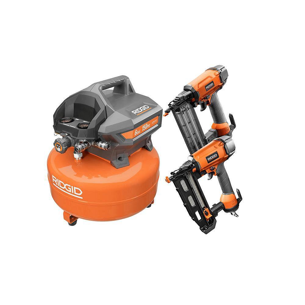 RIDGID 22.7 L Pancake Air Compressor Combo Kit (2-Tool)