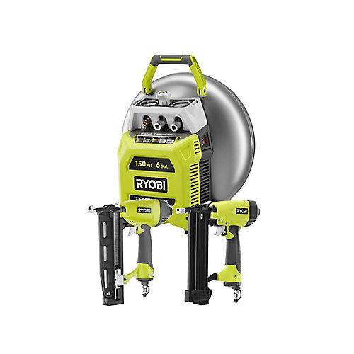 22.7 L Pancake Compressor 2 Tool Combo Kit