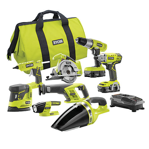 18V ONE+ Cordless Lithium-Ion Combo Kit (8-Tool) with (2) 1.3 Ah Batteries, Charger and Bag