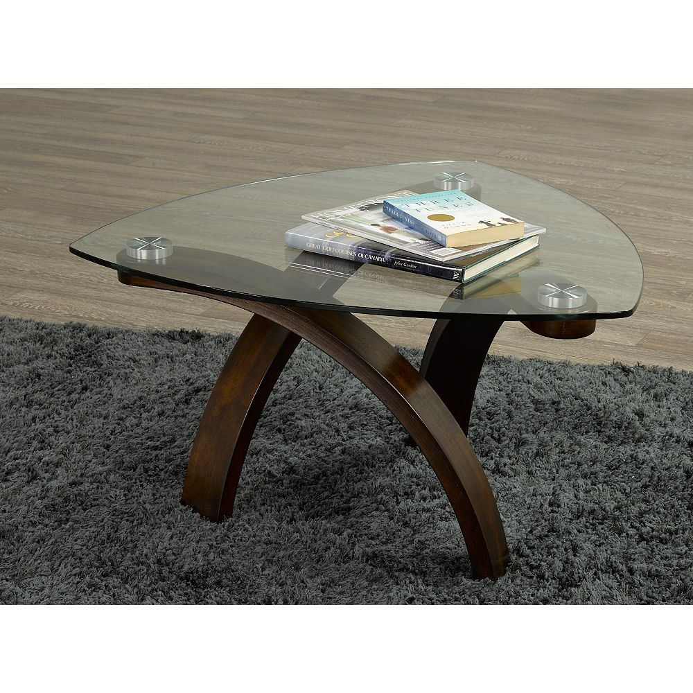 Brassex Inc. Teagan Coffee Table, Dark Cherry