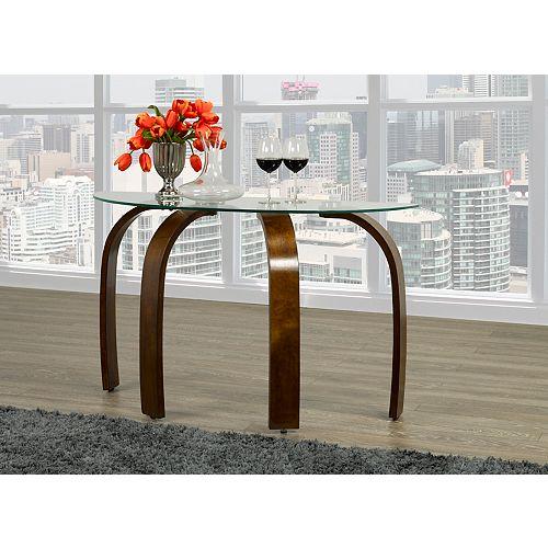 Brassex Inc. Teagan Sofa Table, Dark Cherry