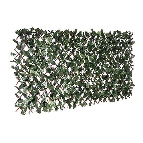 """Naturae Décor 36""""x 72"""" Treillis extensible en feuille de lierre"""
