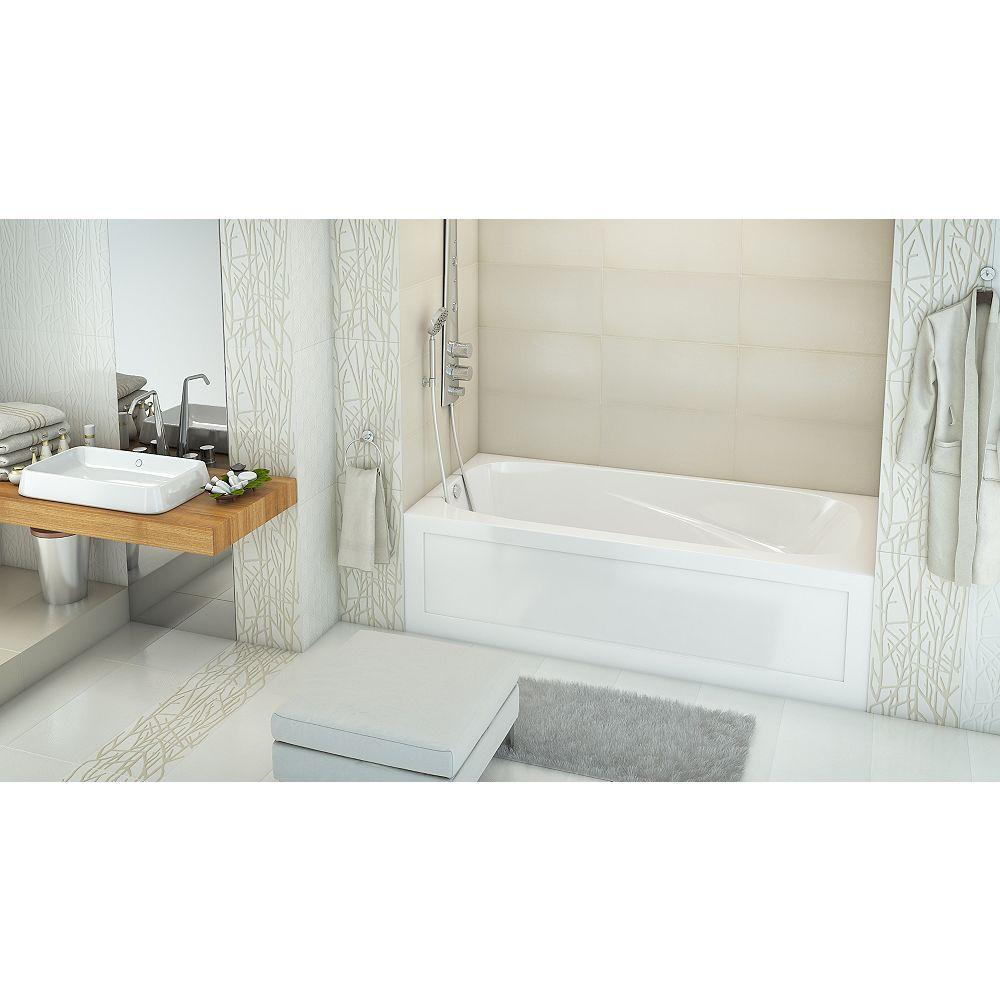 Mirolin Phoenix 2 Jupe de bain acrylique en alcôve acrylique main gauche en blanc