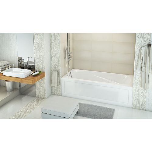 Phoenix 2 Skirted Alcove Acrylic Bath Left Hand in White