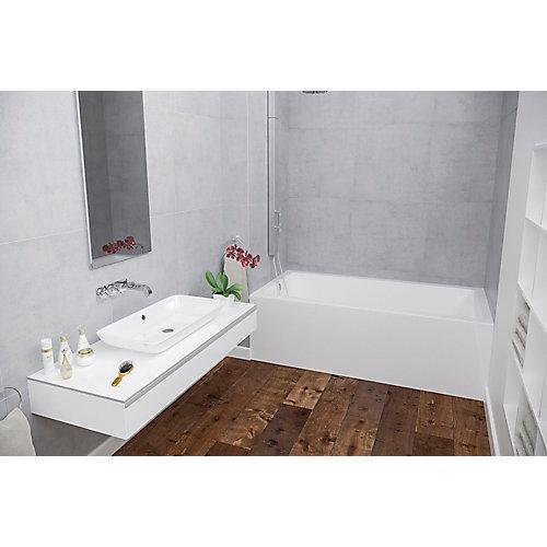 White Corra Skirted Bath Left Hand