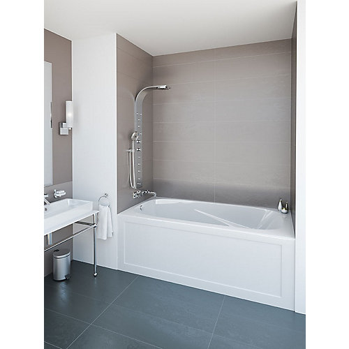 Phoenix  72-inch W x 20-inch H 3 Skirted Bath Left Hand in White