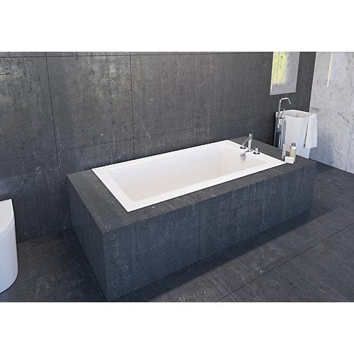 White Adda SlimLine Drop In Bath