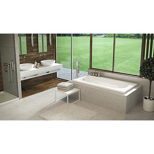 White Lux 2 Inch Drop In Bath