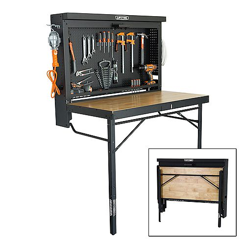 Wall-Mounted Work Table