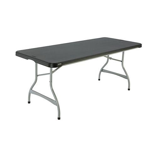 Table gigogne pliante de qualité commerciale de 6 pieds, noir