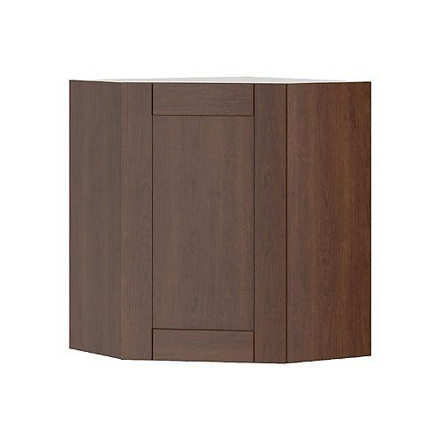 Lyon - Assembled 24 inch x30 inch Diagonal Wall Corner Cabinet