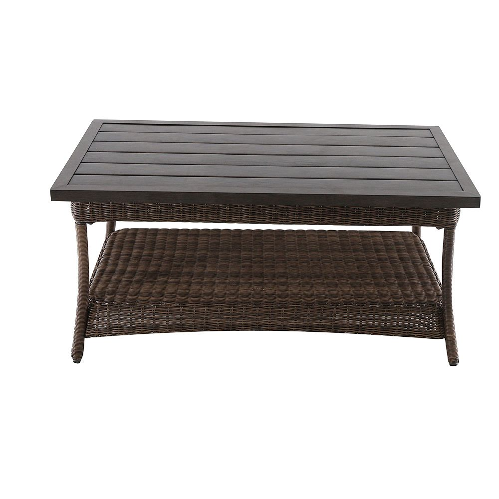 Hampton Bay Beacon Park All-Weather Wicker Patio Coffee Table