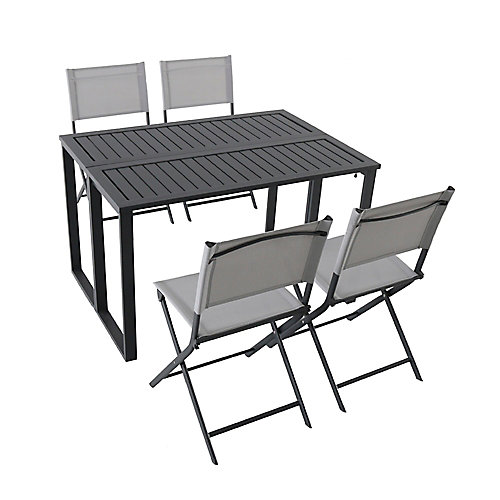 Ocean Springs 5-Piece Folding Patio Dining Set