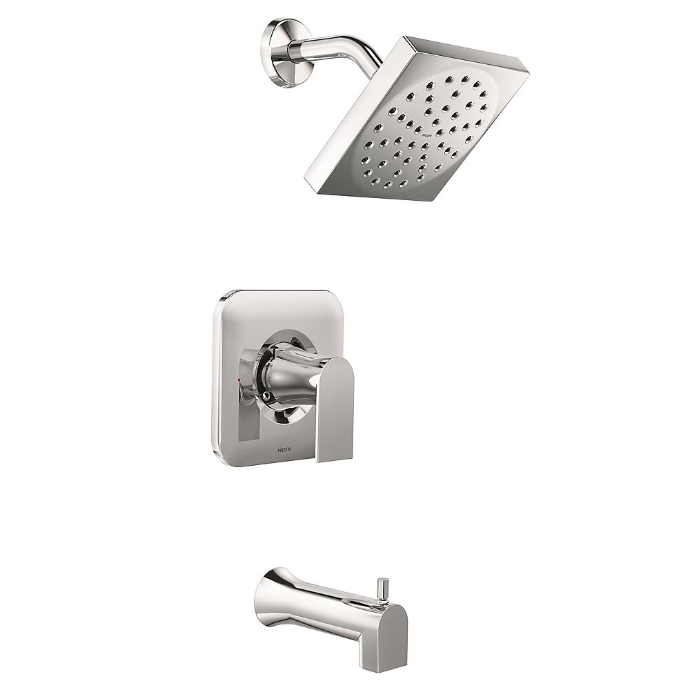 MOEN Genta Single-Handle 1-Spray Tub and Shower Faucet in Chrome (Valve Included)