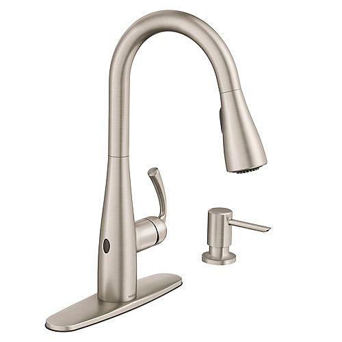 Essie Touchless 1-Handle Pull-Down Sprayer Kitchen Faucet with MotionSense Wave in Spot Resist Stainless