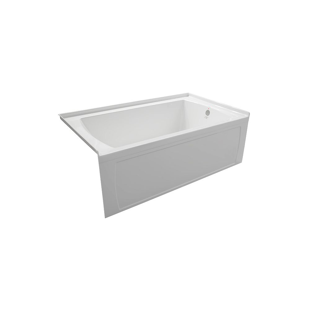 Valley Acrylic ORO 60x36 Inch Right Drain Skirted Bathtub Is Made In Canada From High Gloss, Crack Resistant Acrylic