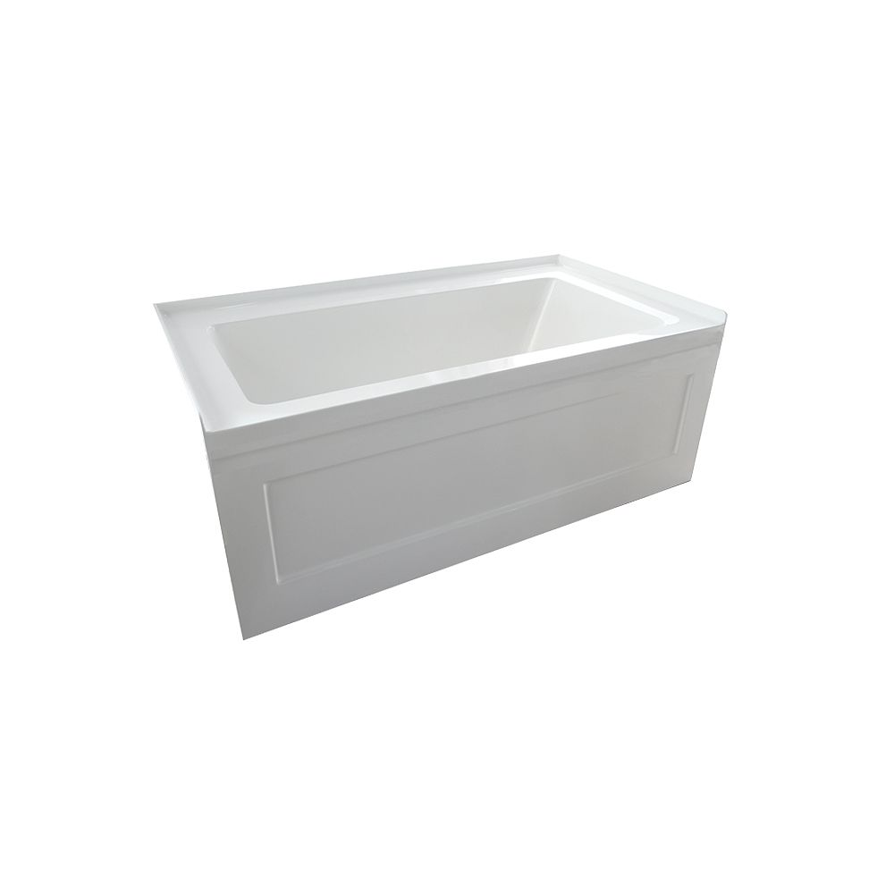 Valley Acrylic QUAD 60x30 Inch Left Drain Skirted Bathtub Jetted: 16 Heated Air Illusion Jets & 1 Chromatherapy Light