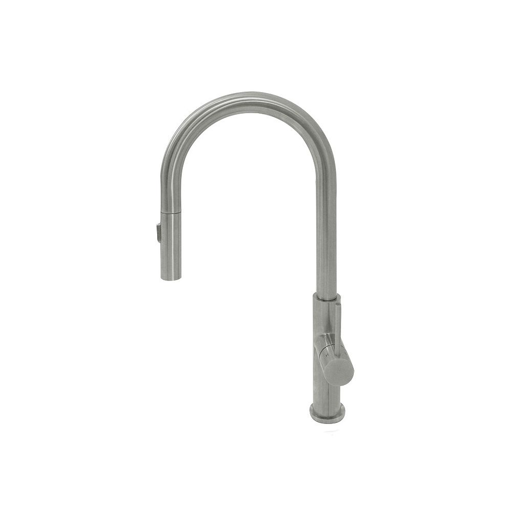 Valley Acrylic Dual Pull-Down Spray Head 360 Degree Swivel Kitchen Faucet With A Brushed Stainless Steel Finish