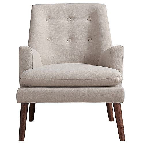 Camden Occasional Polyester/Polyester Blend Accent Chair in Beige with Solid Pattern