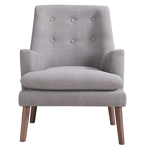 Camden Occasional Polyester/Polyester Blend Accent Chair in Grey with Solid Pattern