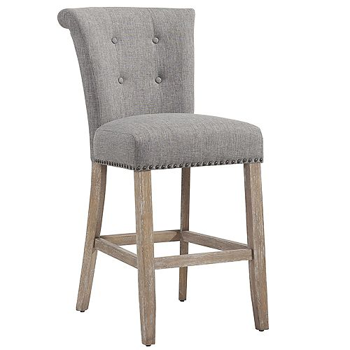 Selma Solid Wood Contemporary Full Back Armless Bar Stool - (Set of 2)