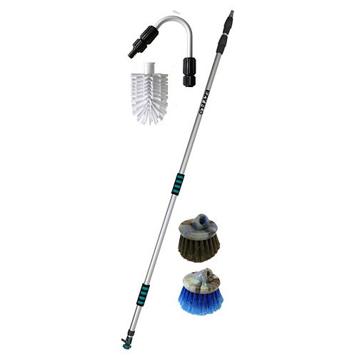 High Reach 6 ft. to 15 ft. Telescoping Gutter/Window/Patio Cleaning Kit