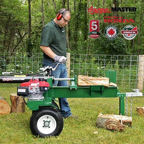 20 Ton Horizontal 24-inch Stroke Log Splitter with Honda GC160 Engine