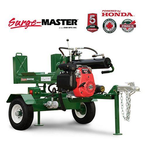 25 Ton Horizontal-Vertical 24-inch Stroke Log Splitter with Honda GC190 Engine
