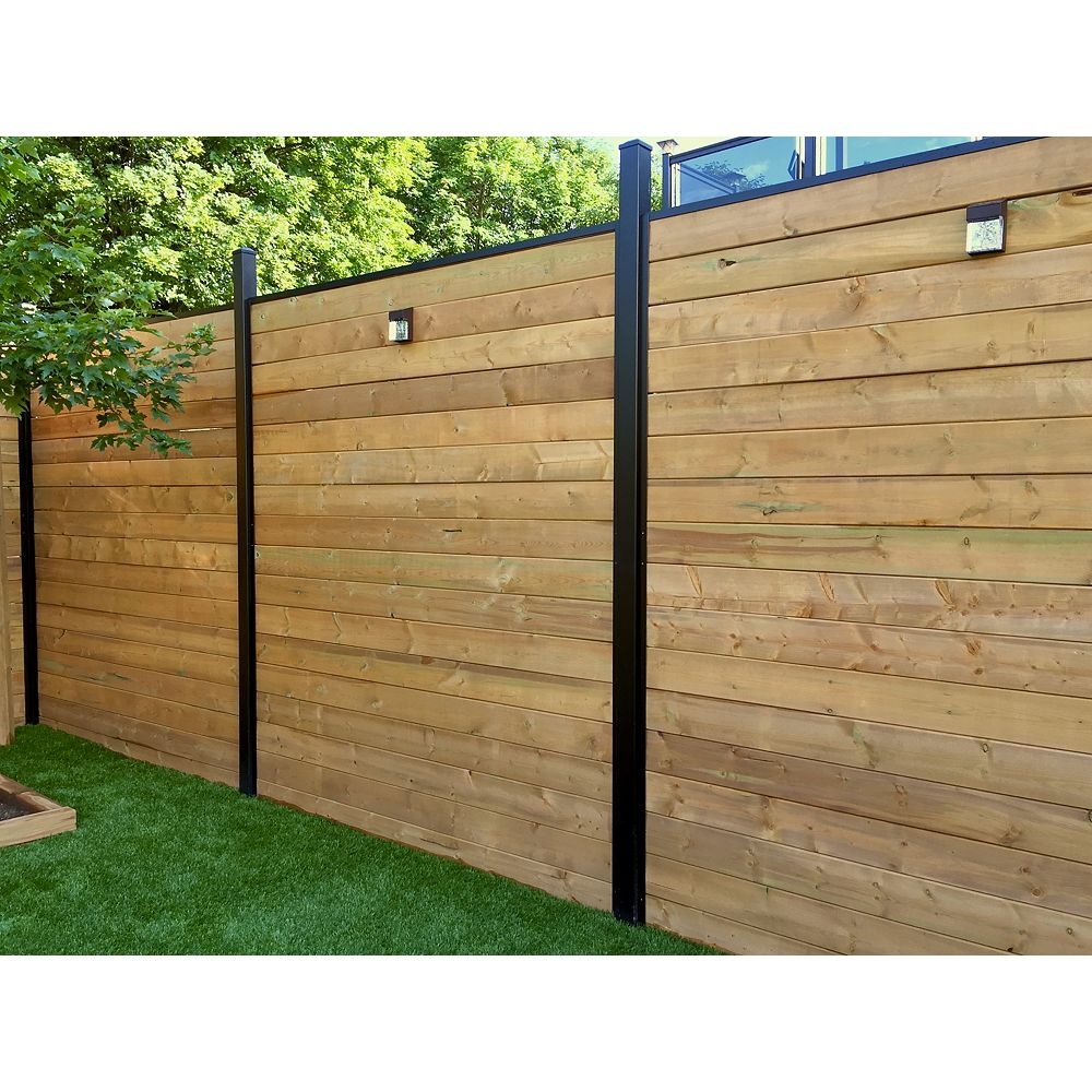 Slipfence Horizontal Channel kit for 6 ft. high fence
