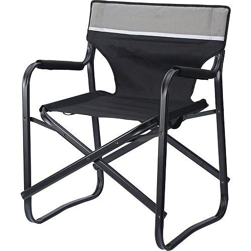 Chaise De Directeur Pliante Compacte 61 Cm L X 53 Cm L X 78 Cm H Polyester + L'Acier