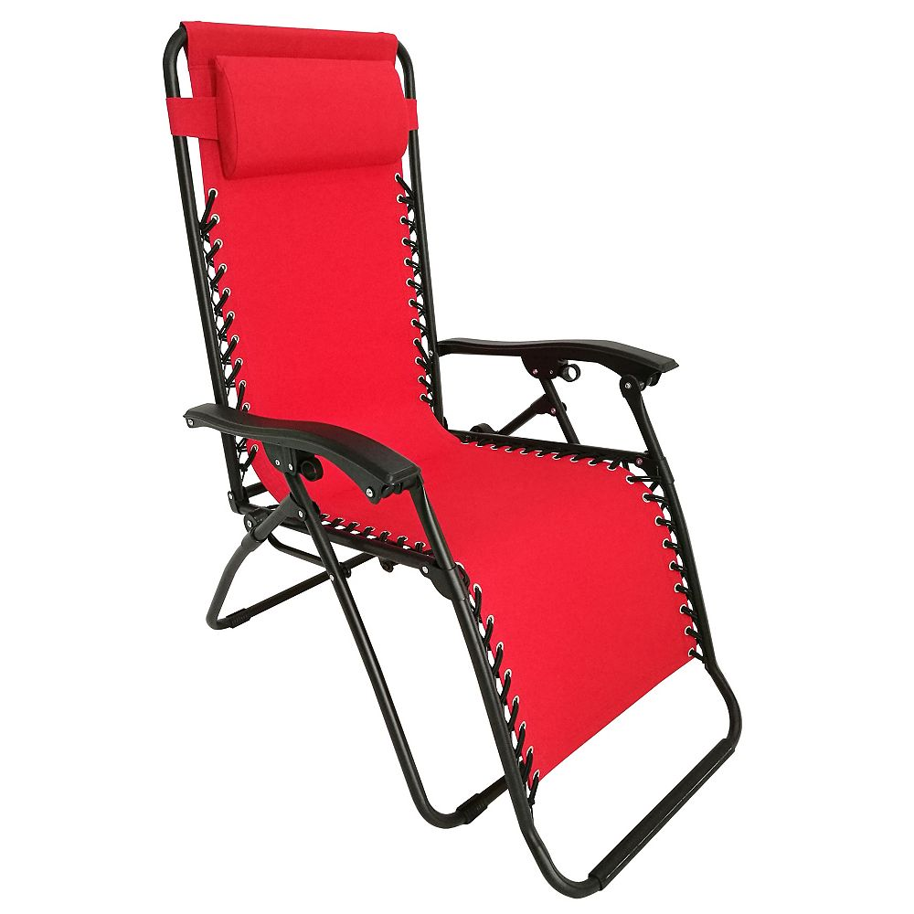 HDG 35.4-inch W x 25.5-inch L x 44.4-inch H Multi-Position Zero Gravity Patio Lounge Chair in Red