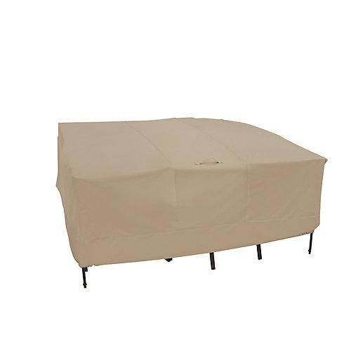 Housse de table et fauteuils de jardin