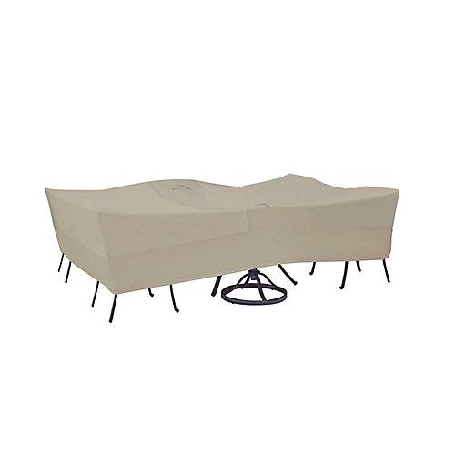 Housse rectangulaire pour table et fauteuils de jardin