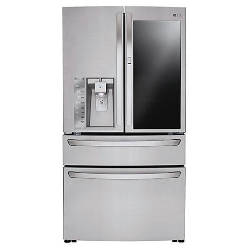 36-inch W 30 cu. ft. 4-Door French Door Refrigerator with InstaView Door-in-Door in Stainless Steel - ENERGY STAR®