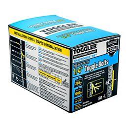 """Toggler® Boulons à rotule SNAPTOGGLE® 1/4"""" en zinc à usage intensif avec vis, 50pcs"""