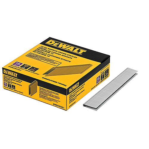 1-inch Leg x 7/32-inch 18-Gauge Crown Glue Collated Steel Staples (5,000 per Box)