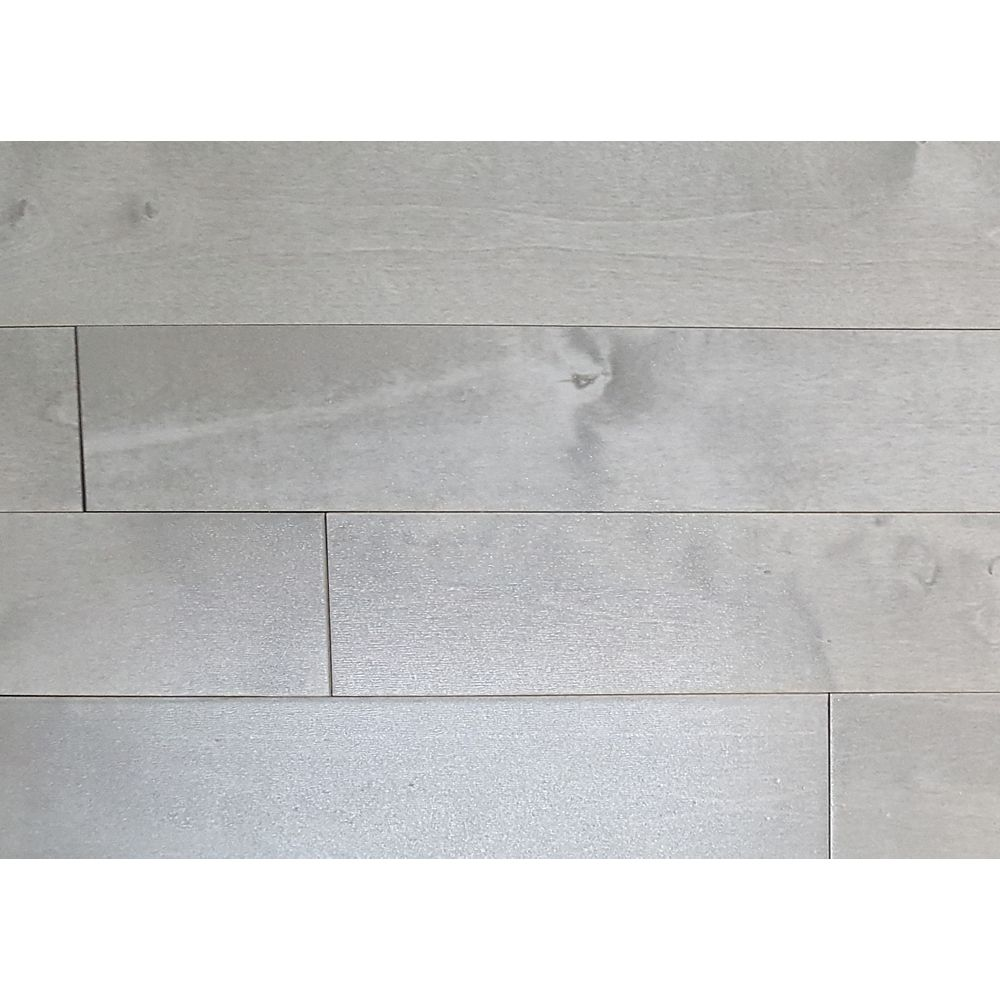 Mistral CDN Birch Muskoka Moonlight Grey ¾-inch T x 3¼-inch Wx Varying Length Solid Hardwood(20 sq.ft./case)