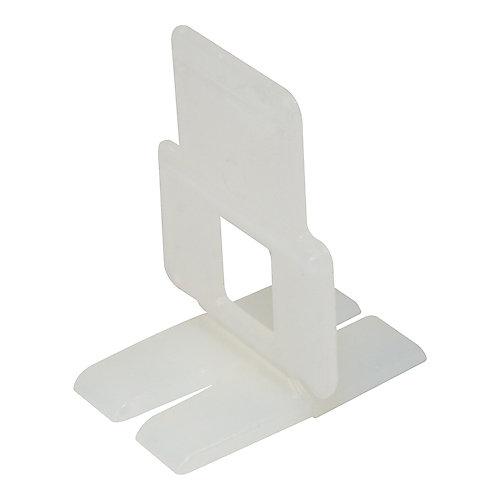 Pince de nivellement, d'alignement et d'espacement de carreaux à base plate (300 par boîte)