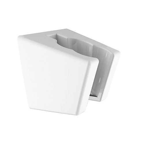 Shower Wall Bracket, White