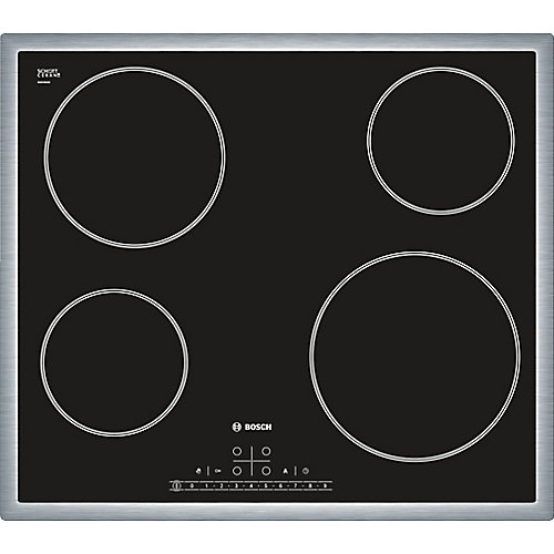 500 Series - 24 inch Electric Cooktop - Black w/ Stainless Steel Frame Design