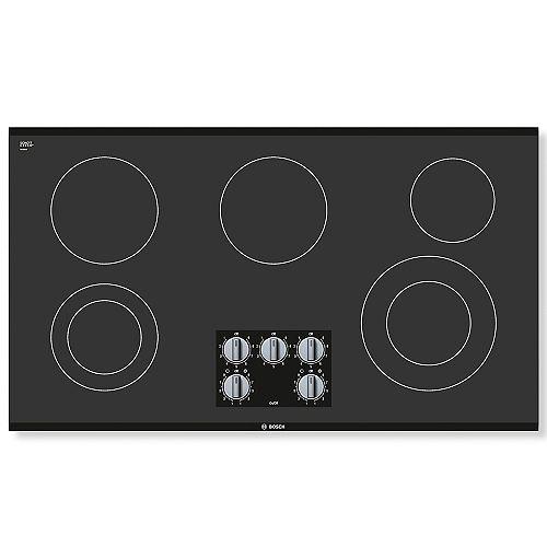 Série 500  Table de cuisson électrique de 36 po  Sans cadre
