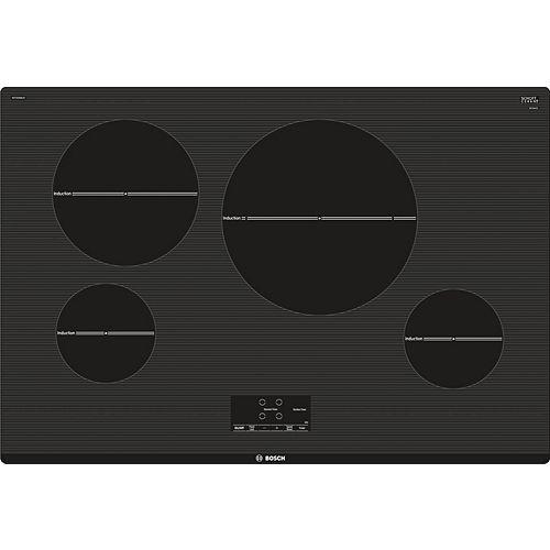 Table de cuisson à induction de 30 po Bosch à 4 éléments, série 500