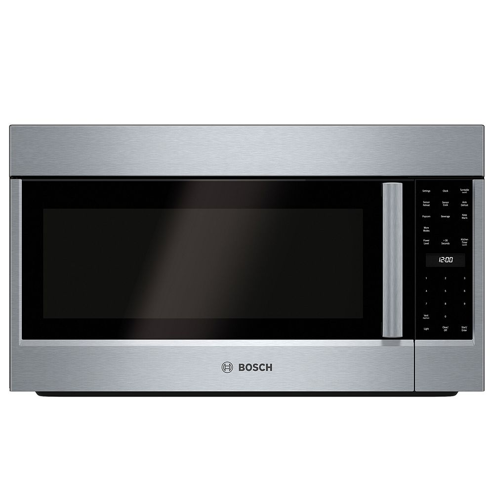 Bosch 500 Series 30 in. 2.1 cu. ft. Over the Range Microwave in Stainless Steel
